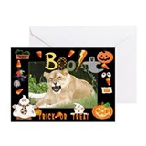 Barbary Lion Halloween Greeting Cards (Pk of 10)