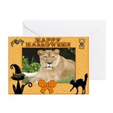 Barbary Lion Halloween Greeting Cards (Pk of 20)