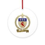 MOREAU Family Crest Ornament (Round)