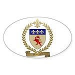MOREAU Family Crest Oval Sticker