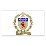 MORROW Family Crest Rectangle Sticker 10 pk)