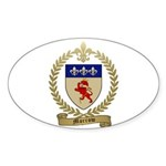 MORROW Family Crest Oval Sticker (10 pk)