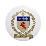 MORROW Family Crest Ornament (Round)