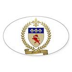 MORROW Family Crest Oval Sticker