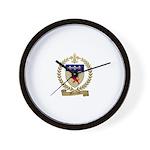 MORROW Family Crest Wall Clock