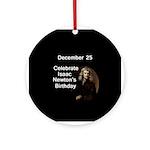 Isaac Newton's Birthday Tree Ornament