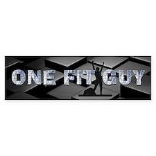One Fit Guy Bumper Sticker