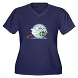 Stork Baby Sweden Women's Plus Size V-Neck Dark T-