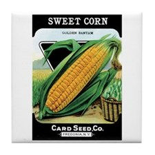 Vintage Sweet Corn Tile Coaster