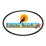 Edisto Beach SC - Beach Design Oval Decal