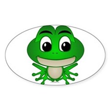 Frankie The Frog Oval Decal
