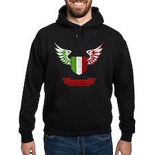 Vintage Italia Flag Wings Hoodie