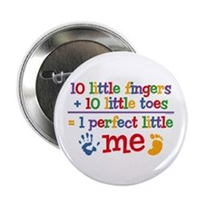 "Fingers and Toes 2.25"" Button"