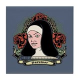 Survivor Nun Tile Coaster