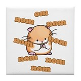 Om Nom Hamster Tile Coaster