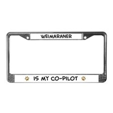 Co-pilot: Weimaraner License Plate Frame