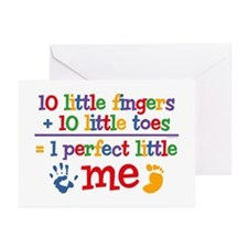 Fingers and Toes Greeting Cards (Pk of 20)