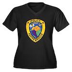 Farmersville Police Women's Plus Size V-Neck Dark
