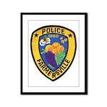 Farmersville Police Framed Panel Print