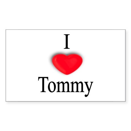 Tommy Rectangle Sticker