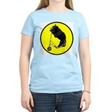 Black bear riding scooter Women's Pink T-Shirt