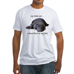 Chocolate Lab Heartbeat Fitted T-Shirt
