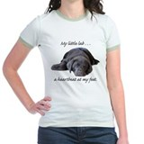 Chocolate Lab Heartbeat T