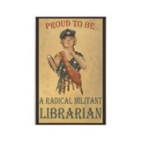 Radical Militant Librarian Rectangle Magnet