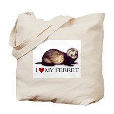 Tote Bag - I love my ferret