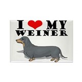 Luv My Weiner Rectangle Magnet