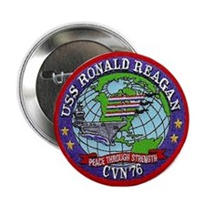 USS Ronald Reagan CVN 76 Button