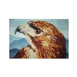 Mya, Red-tail Hawk Rectangle Magnet