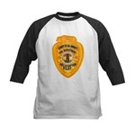 L.A. County Fire Copter Pilot Kids Baseball Jersey