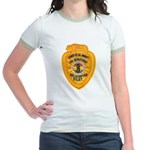 L.A. County Fire Copter Pilot Jr. Ringer T-Shirt