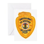 L.A. County Fire Copter Pilot Greeting Cards (Pk o