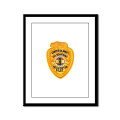 L.A. County Fire Copter Pilot Framed Panel Print