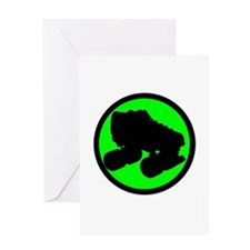 Circle Skate Green Greeting Card