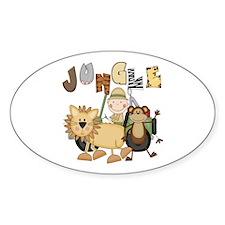 Jungle Oval Sticker (10 pk)
