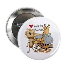 """Love the Animals 2.25"""" Button (100 pack)"""