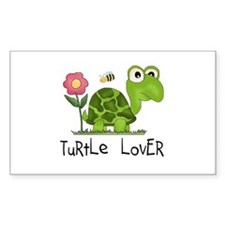 Turtle Lover Rectangle Sticker 10 pk)