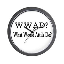 What Would Attila Do Wall Clock