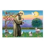 St. Francis / Poodle (parti) Postcards (Package of