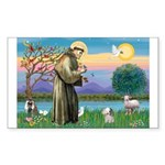St. Francis / Poodle (parti) Rectangle Sticker 10