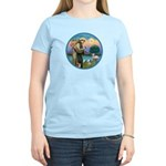 St. Francis / Poodle (parti) Women's Light T-Shirt