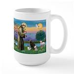 St Francis/3 dogs Large Mug