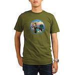 St Francis/3 dogs Organic Men's T-Shirt (dark)