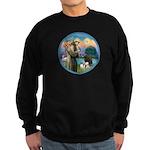 St Francis/3 dogs Sweatshirt (dark)