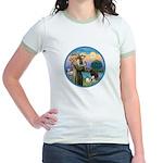 St Francis/3 dogs Jr. Ringer T-Shirt