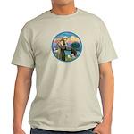 St Francis/3 dogs Light T-Shirt