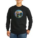St Francis/3 dogs Long Sleeve Dark T-Shirt